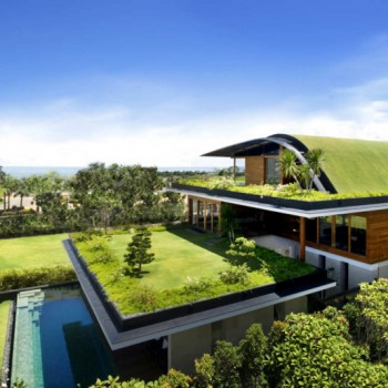 mansion cubiertas vegetales jardin casa